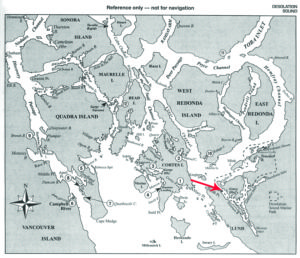 Desolation Sound map